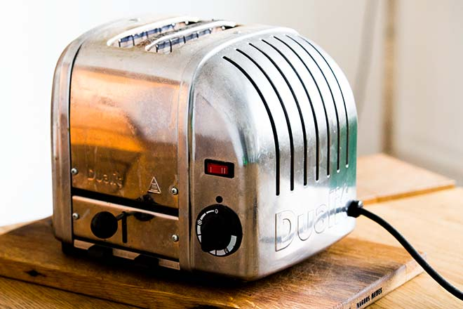 Klassisches Design des Dualit-Toasters