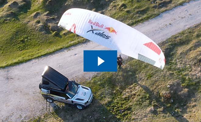 Video New Defender mit Paraglider
