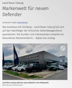 Fachzeitschrift kfz-betrieb Artikel zur World of Defender